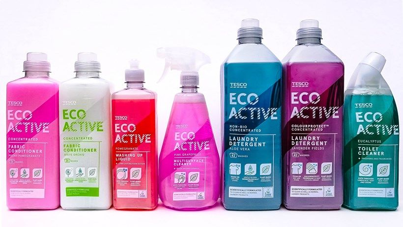 Tesco Launch Own Label Eco Friendly Cleaning Products Active Range