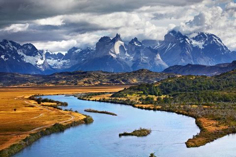 <p>Chile is famous for its spectacular landscape, which includes the snow-capped Paine Massif in the heart of the Torres del Paine National Park.</p>
