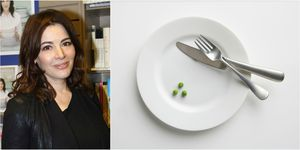 Nigella Lawson - cutlery on plate