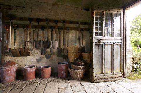 garden shed - inside