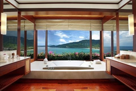 "<p>Located on the west coast of Phuket in Thailand, the <a href=""https://www.booking.com/hotel/th/andara-resort-residences.en-gb.html?label=gen173nr-1DCAEoggJCAlhYSDNiBW5vcmVmaFCIAQGYAS64AQbIAQzYAQPoAQGSAgF5qAID;sid=3a2a3416e89e08236fe2947256c10124;all_sr_blocks=17641005_96439764_0_1_0;checkin=2017-11-27;checkout=2017-11-29;dest_id=-3414444;dest_type=city;dist=0;group_adults=2;hapos=1;highlighted_blocks=17641005_96439764_0_1_0;hpos=1;room1=A%2CA;sb_price_type=total;srepoch=1510056389;srfid=1816dd53257efa3166c51a542c770376fa79cb17X1;srpvid=6b9c552135cb001e;type=total;ucfs=1&#hotelTmpl"" data-href=""https://www.booking.com/hotel/th/andara-resort-residences.en-gb.html?label=gen173nr-1DCAEoggJCAlhYSDNiBW5vcmVmaFCIAQGYAS64AQbIAQzYAQPoAQGSAgF5qAID;sid=3a2a3416e89e08236fe2947256c10124;all_sr_blocks=17641005_96439764_0_1_0;checkin=2017-11-27;checkout=2017-11-29;dest_id=-3414444;dest_type=city;dist=0;group_adults=2;hapos=1;highlighted_blocks=17641005_96439764_0_1_0;hpos=1;room1=A%2CA;sb_price_type=total;srepoch=1510056389;srfid=1816dd53257efa3166c51a542c770376fa79cb17X1;srpvid=6b9c552135cb001e;type=total;ucfs=1&#hotelTmpl"" target=""_blank"">Andara Resort</a> features a bathroom overlooking Kamala Beach, the Andaman Sea and lush green mountains. The resort also throws in a private chef for good measure.</p>"