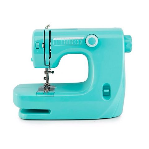 """<p>Whether you're advanced or a bit of a beginner, this bold and bright machine should suit: it offers 10 types of stitch patterns and&nbsp;a double-needle sewing function so you can stitch, mend and make creatively.</p><p><strong data-redactor-tag=""""strong"""" data-verified=""""redactor"""">BUY HERE:</strong> <a href=""""http://www.debenhams.com/webapp/wcs/stores/servlet/prod_10701_10001_172010149299_-1"""" target=""""_blank"""" data-tracking-id=""""recirc-text-link"""">Debenhams</a> (£70)</p>"""