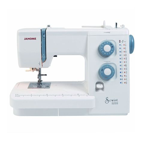 """<p>With hundreds of five-star reviews on Amazon, this machine provides 24&nbsp;stitch choices and&nbsp;a one-step buttonhole, as well as variable stitch width and length and a built-in needle threader. There's also a drop feed for freehand embroidery.&nbsp;</p><p><strong data-redactor-tag=""""strong"""" data-verified=""""redactor"""">BUY HERE: </strong><a href=""""https://www.amazon.co.uk/Janome-525S-Sewing-Machine/dp/B007IUG1CG/ref=sr_1_1"""" target=""""_blank"""" data-tracking-id=""""recirc-text-link"""">Amazon</a>(£289)</p>"""