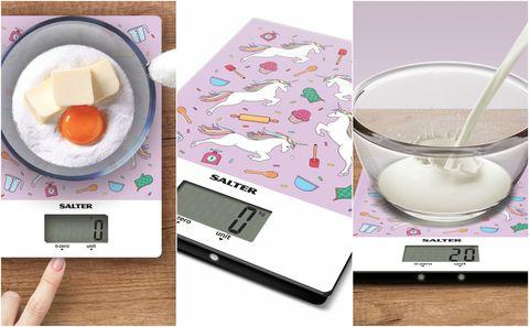Salter unicorn print digital kitchen scales