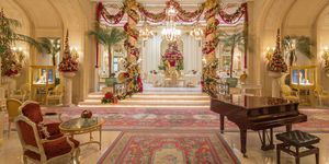 Christmas decorations at The Ritz hotel