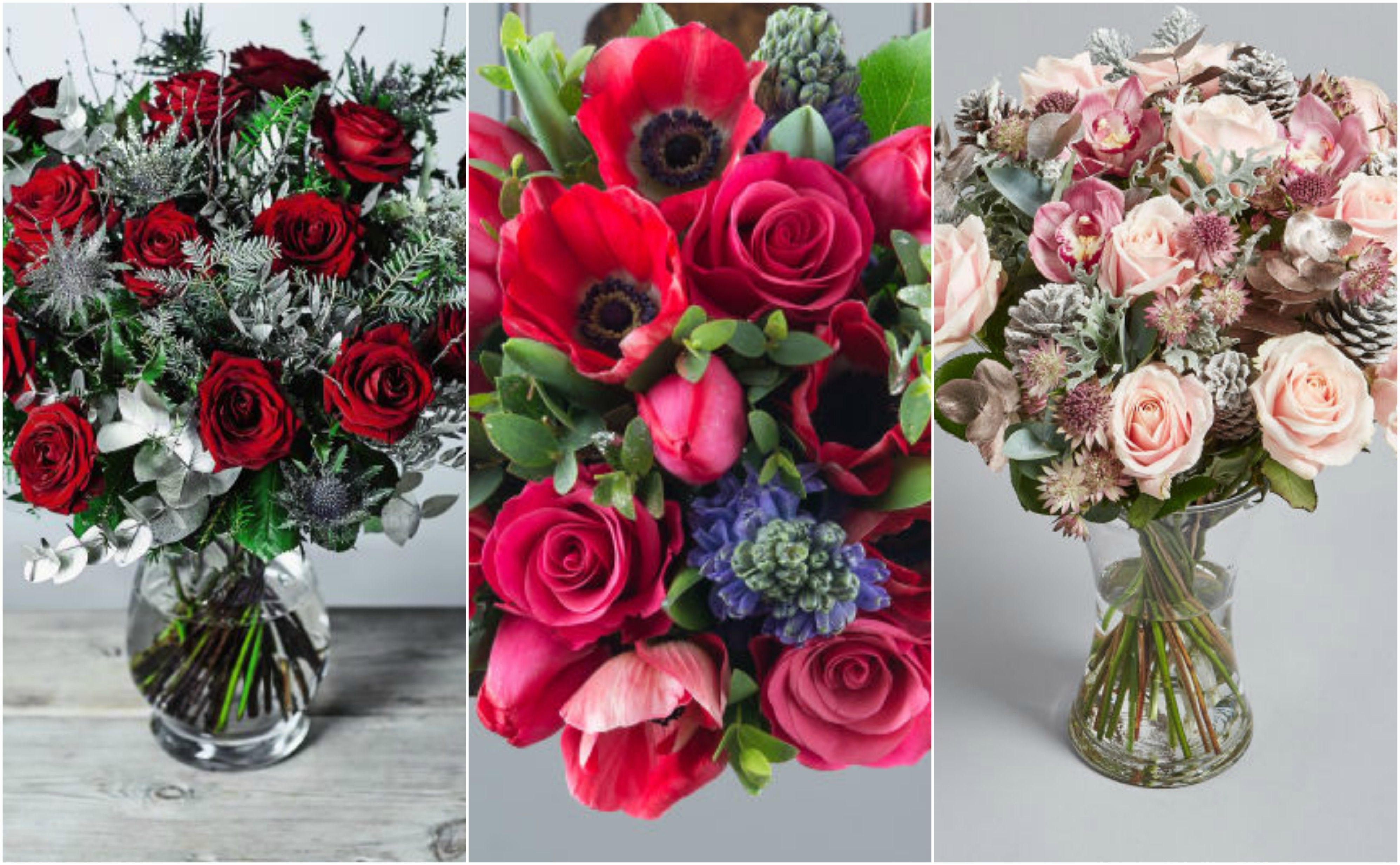 best christmas flowers best bouquet flower arrangements for uk delivery - Red Christmas Flowers