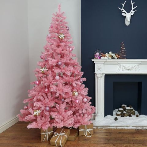 pink christmas tree - Pictures Of Pretty Decorated Christmas Trees