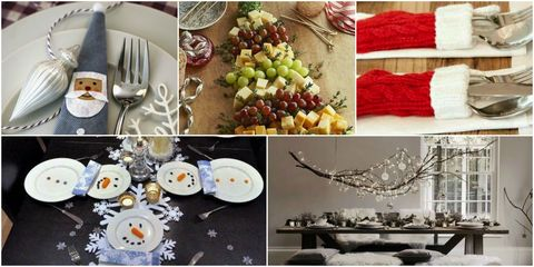 christmas table setting ideas pinterest - Pinterest Christmas Table Decorations
