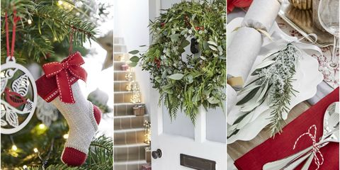 Christmas decorating schemes - red, green and white
