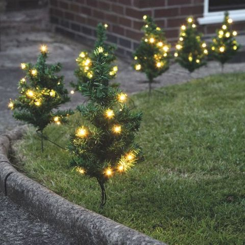 6 tree path lights 90 warm white leds 3499 festive lights