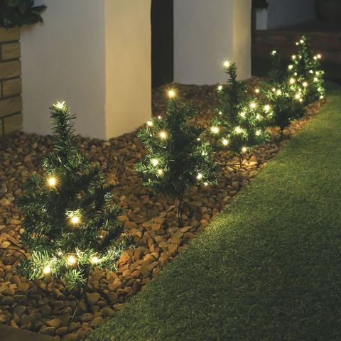 Outdoor Christmas Tree Path Lights Will Create Welcoming Entrance ...