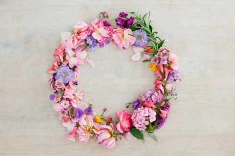 11 creative ways to use flowers around the home how to decorate pretty pastel pink and purple flower wreath mightylinksfo