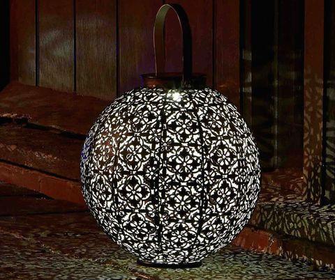 Solar Damasque Garden Lantern, The Glow Company