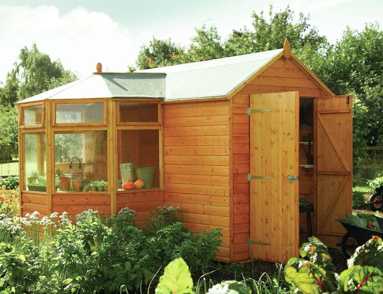 The Corner Garden Potting Shed (and mini Greenhouse) from Rowlinson