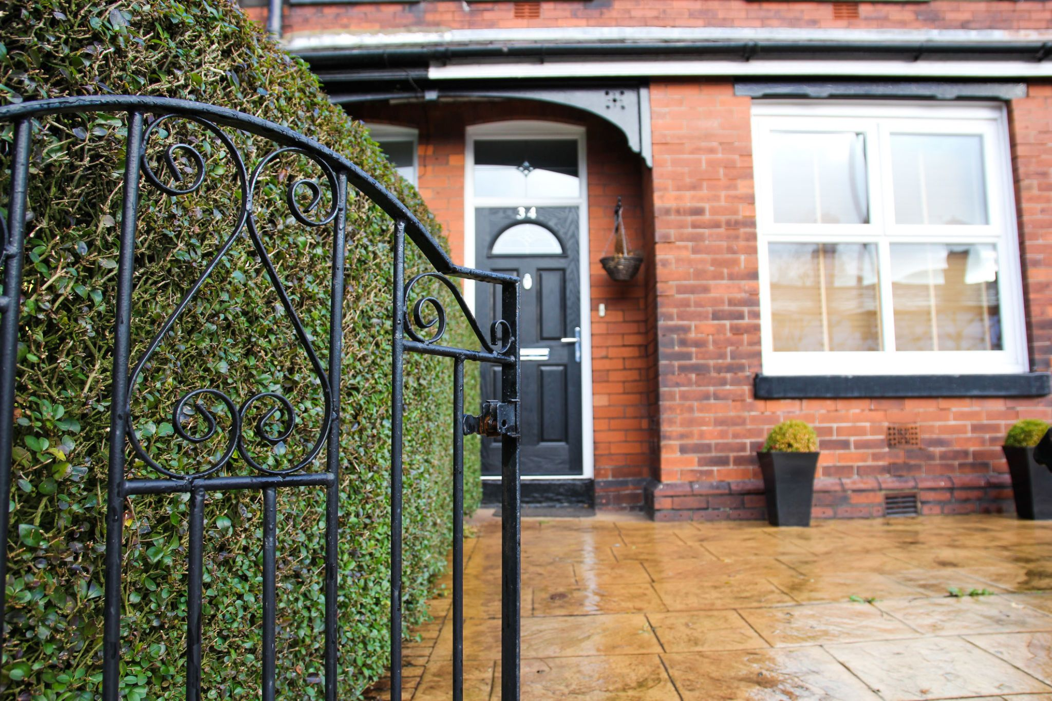 Exterior Victorian Terraced House With Metal Front Gate