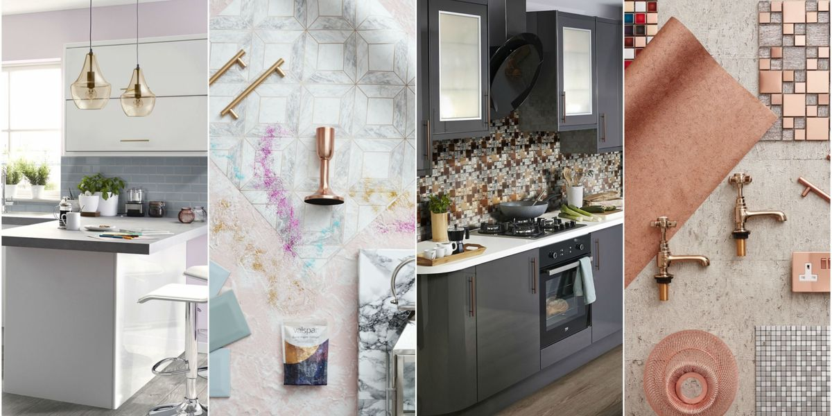 The top kitchen designs that pinterest users are obsessed for Kitchen cabinet trends 2018 combined with decorative wall art tiles