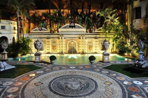 <p>He lined the pool with 24-carat gold tiles.</p>
