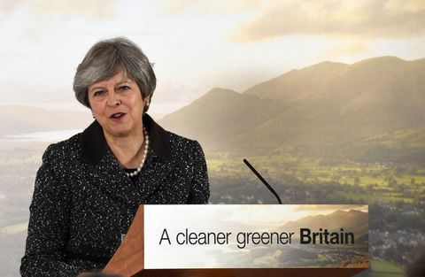 Prime Minister Theresa May environment speech on plastic waste