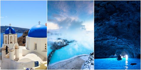 Blue travel destinations
