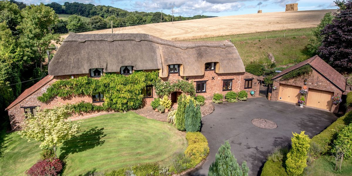 Thatched Somerset Cottage For Sale Is Bursting With Rustic