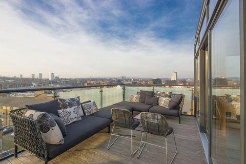 The Henson Building penthouse - terrace - Beauchamp Estates
