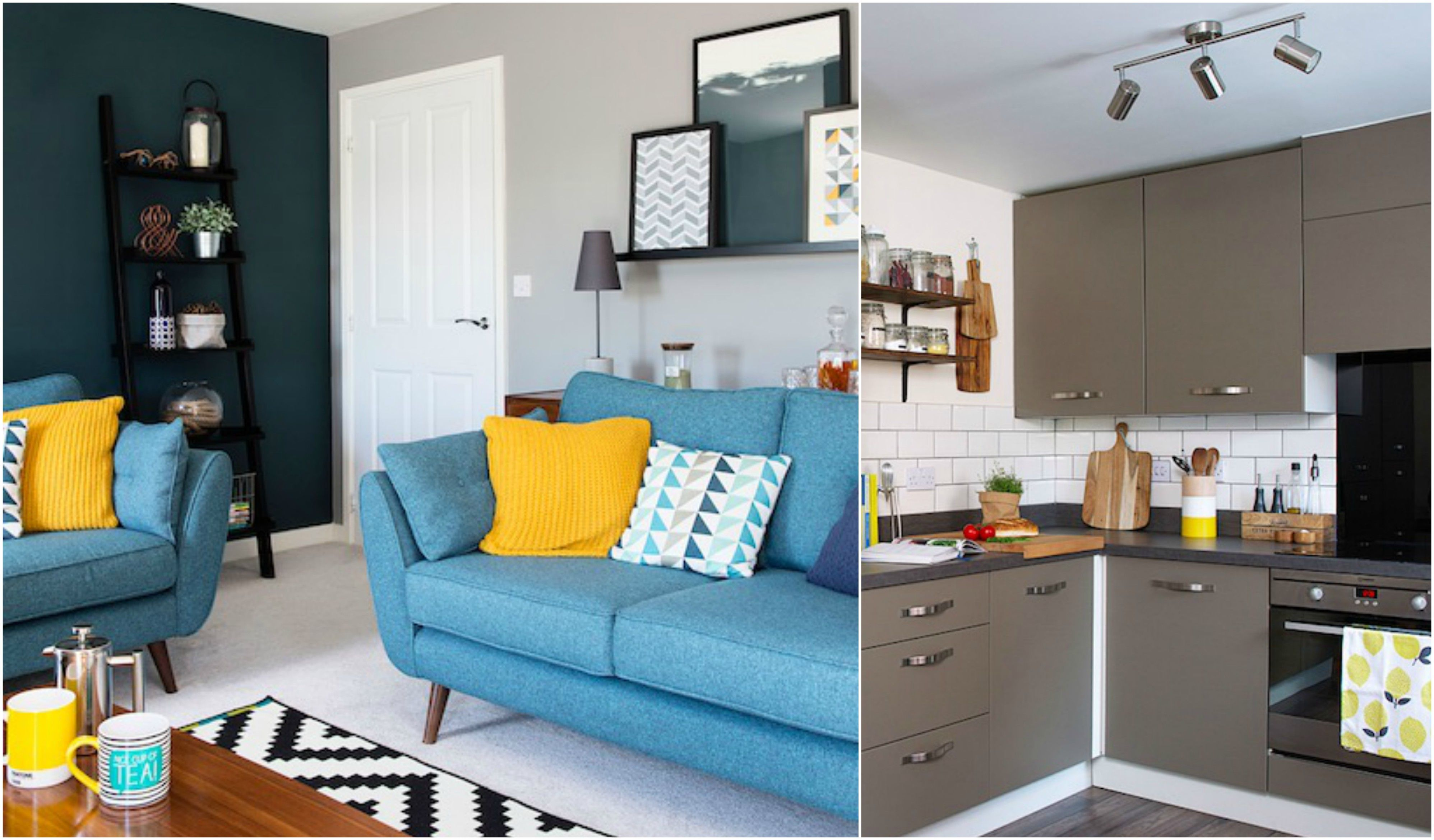 Two first time buyers turn a new build house into a quirky and individual home
