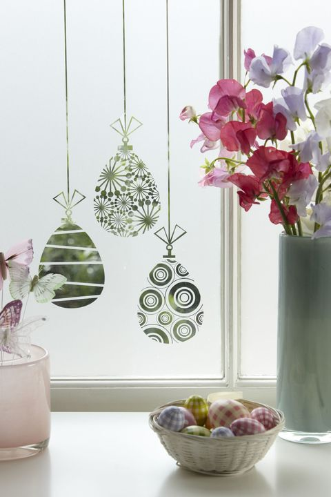 Decorate With Easter Themed Frosted Window Film - Easter