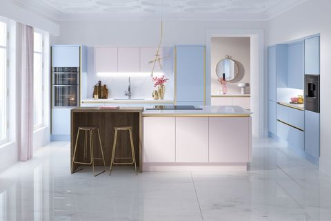 wren kitchens macaroon collection milano in rose - Kitchen Collection
