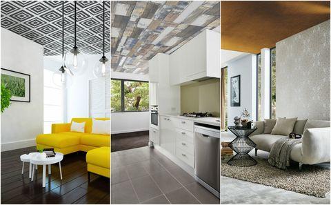 Statement ceilings - wallpaper ceiling