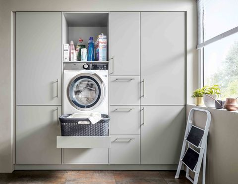 make everyday tasks simple with these utility room storage ideas. Black Bedroom Furniture Sets. Home Design Ideas