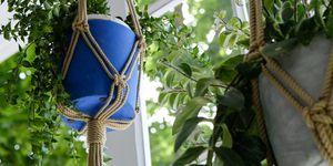 Macramé plant pots