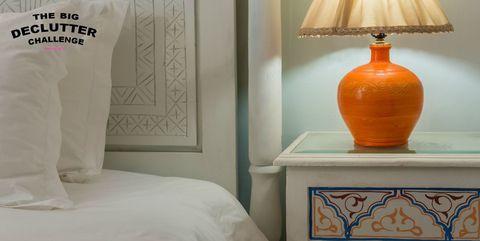 Bedside table - declutter