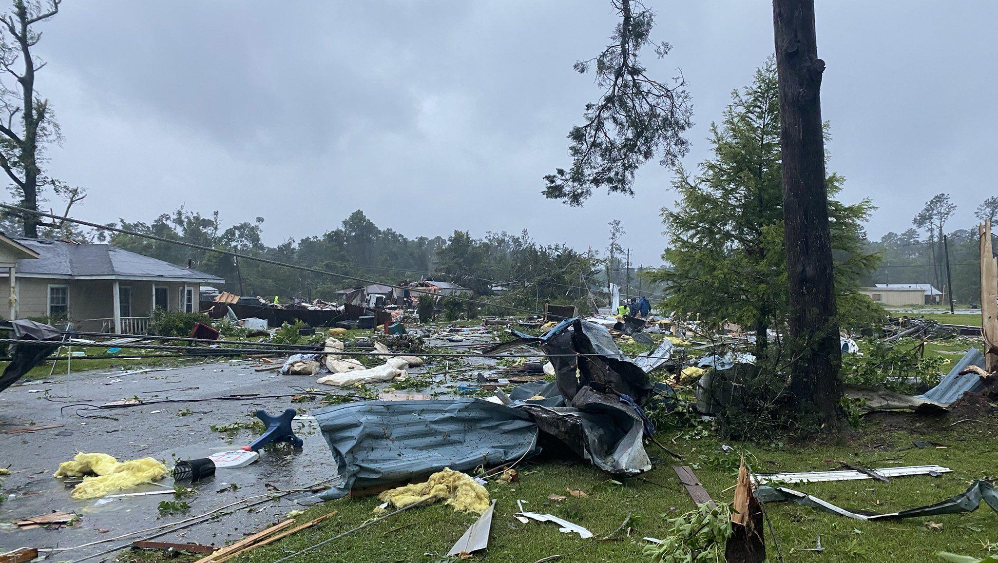 TS Claudette: Tornado damage in Brewton, Alabama