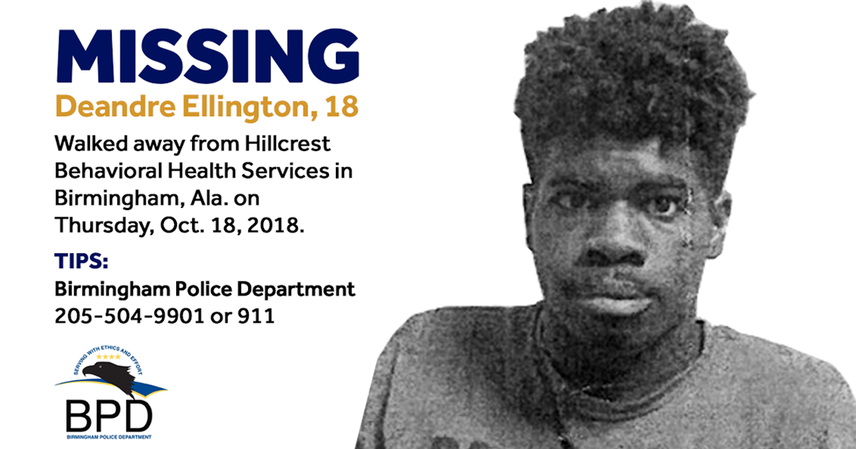 Birmingham Pd Searching For 18 Year Old Who Walked Away From