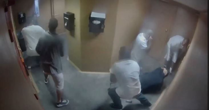 7 vs  2: Video released shows brutal attack on correctional