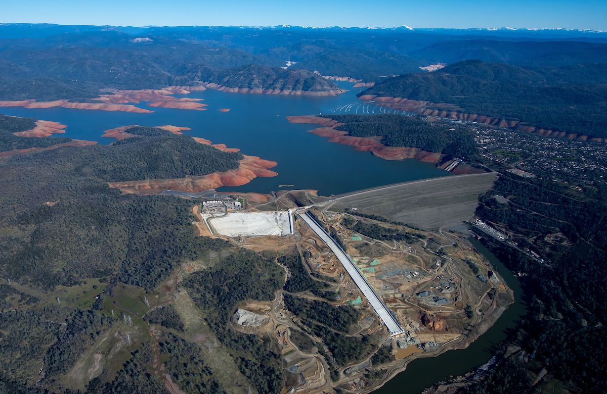 When could the new Oroville Dam spillway be used?