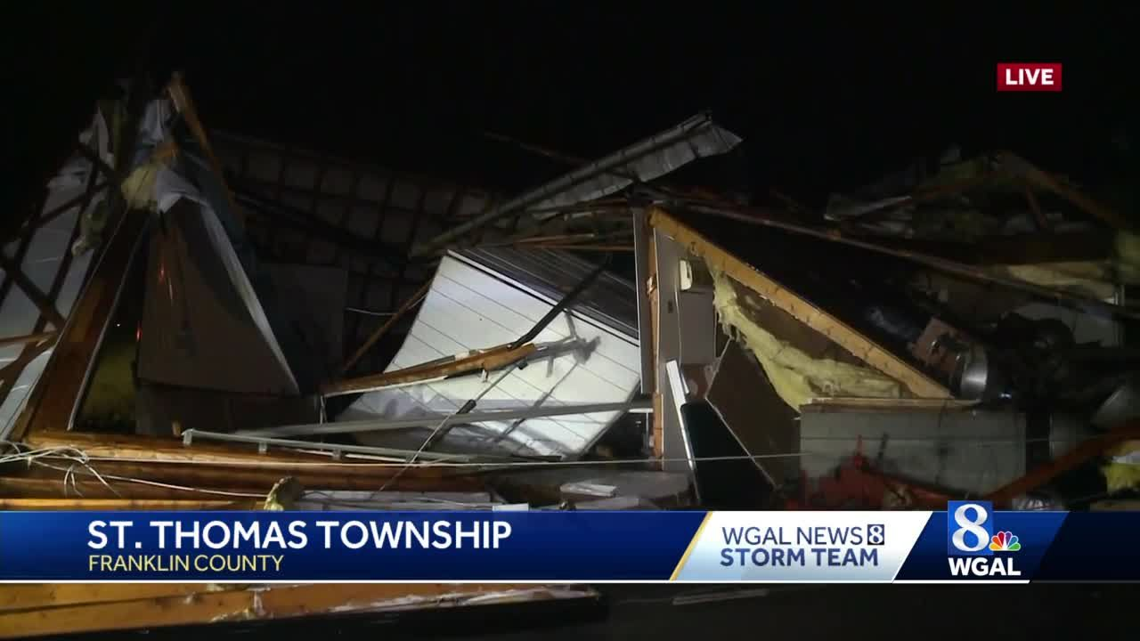 Building in Franklin County collapses due to storm