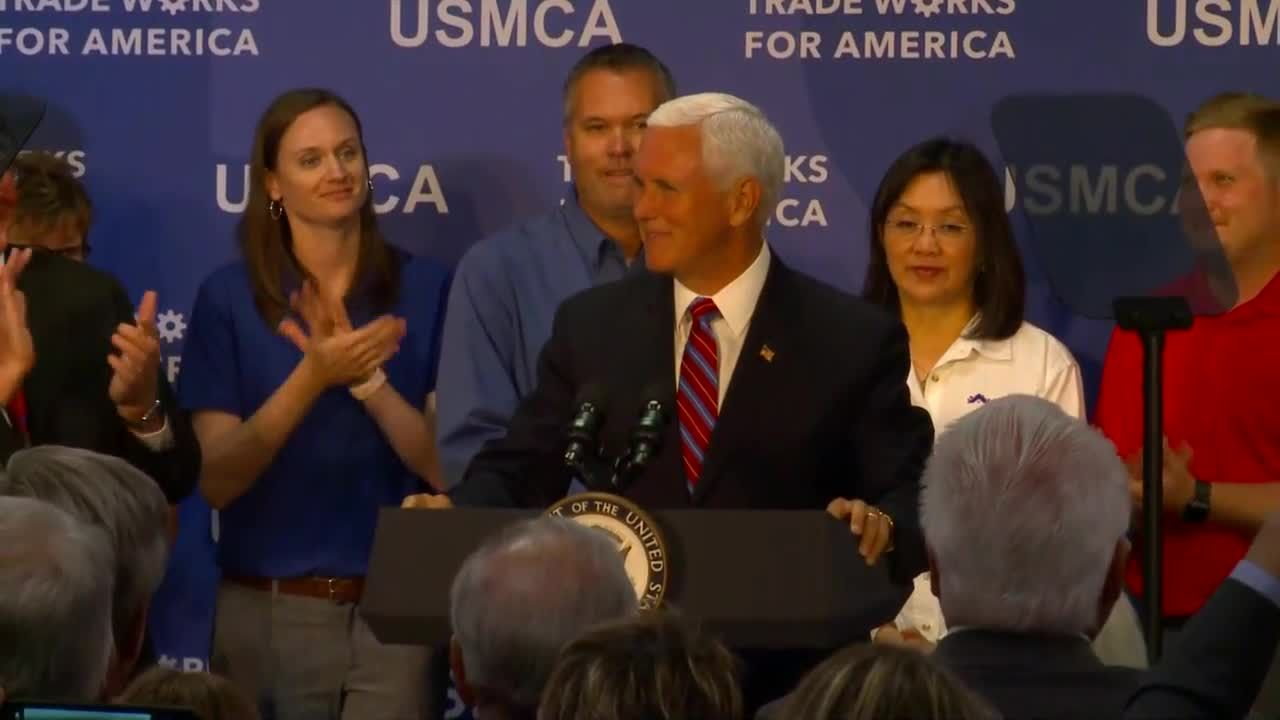 Vice President Mike Pence touched down in Iowa on Tuesday to