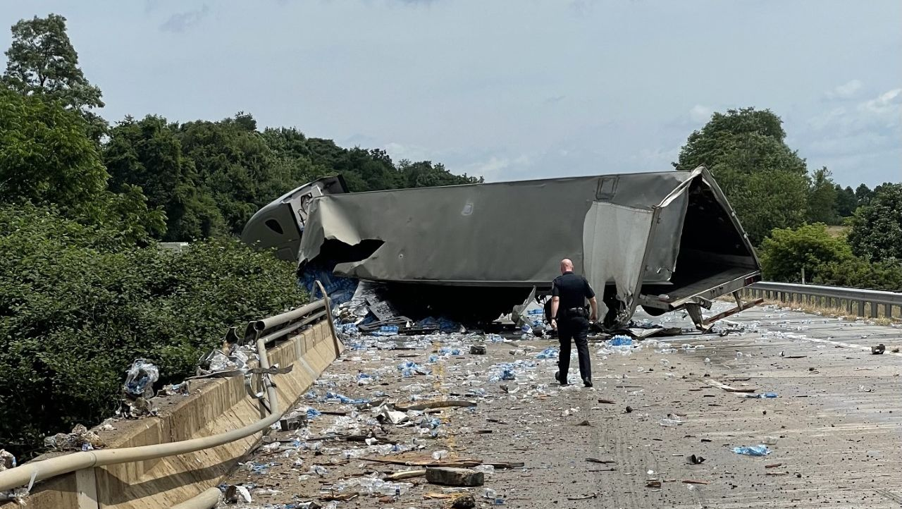 Police look for driver of tractor-trailer that crashed on Route 30 in York County