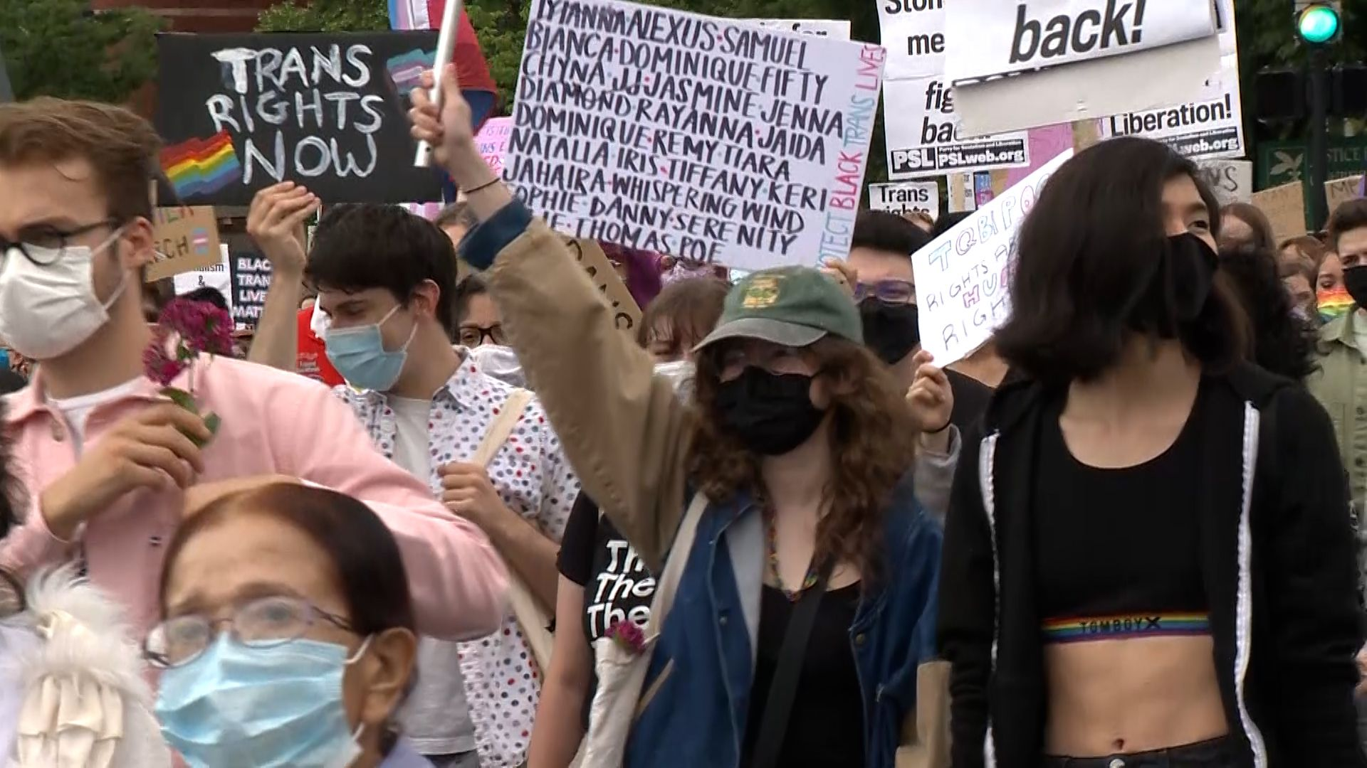Supporters of transgender community rally, march in Boston on anniversary of Pulse shooting