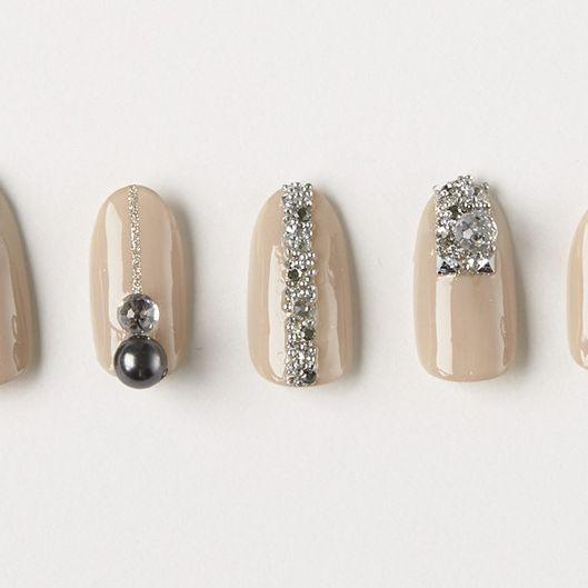 Brown, Style, Nail care, Natural material, Nail, Fashion, Metal, Grey, Nail polish, Beige,
