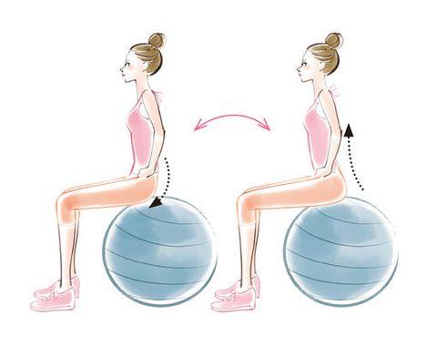 Swiss ball, Ball, Arm, Shoulder, Joint, Leg, Balance, Sitting, Muscle, Exercise equipment,