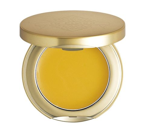 Yellow, Product, Beauty, Cosmetics, Material property, Beige, Lid, Table, Metal,