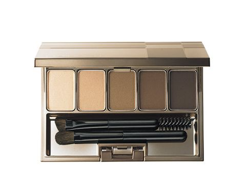 Eye shadow, Eye, Brown, Beige, Organ, Cosmetics, Human body, Material property, Drawer, Rectangle,