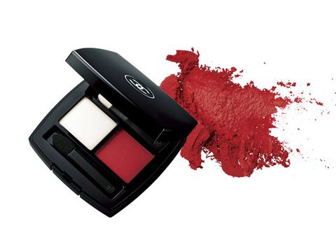 Cosmetics, Red, Eye shadow, Product, Face powder, Cheek, Lip, Eye, Material property, Powder,