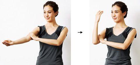 Shoulder, Arm, Skin, Joint, Neck, Standing, Elbow, Gesture, Hand, Human body,