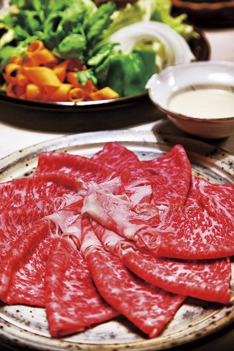 Dish, Food, Cuisine, Red meat, Meat, Kobe beef, Yakiniku, Ingredient, Shabu-shabu, Beef,