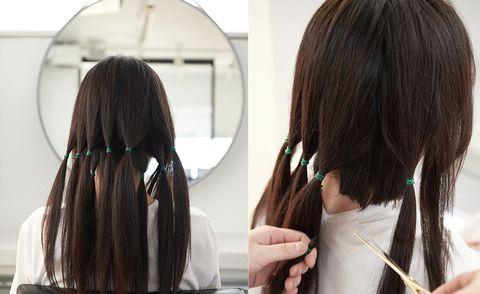 Hair, Hairstyle, Long hair, Hair coloring, Layered hair, Brown, Brown hair, Step cutting, Black hair, Wig,