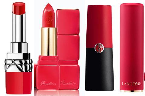 Red, Lipstick, Cosmetics, Product, Pink, Beauty, Lip care, Lip gloss, Lip, Material property,