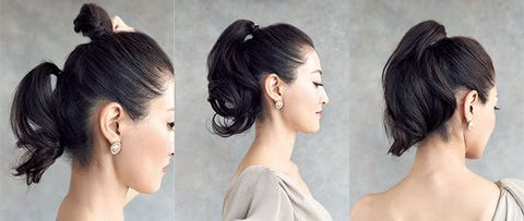 Hair, Hairstyle, Face, Chin, Skin, Chignon, Eyebrow, Beauty, Forehead, Nose,